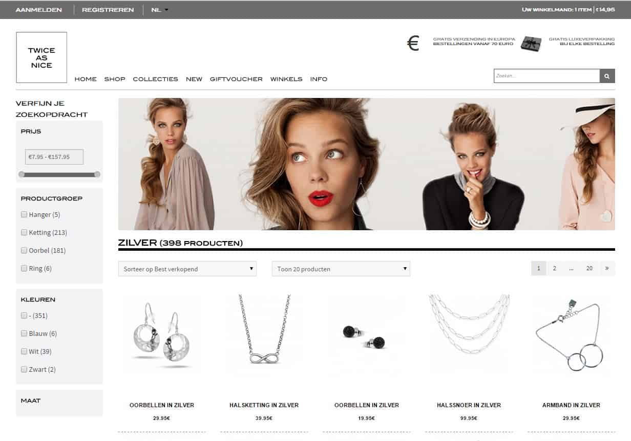 Twice as Nice Omnichannel webshop - Tilroy