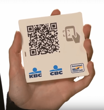 KBC mobilepay winkel en de qr code aan de kassa
