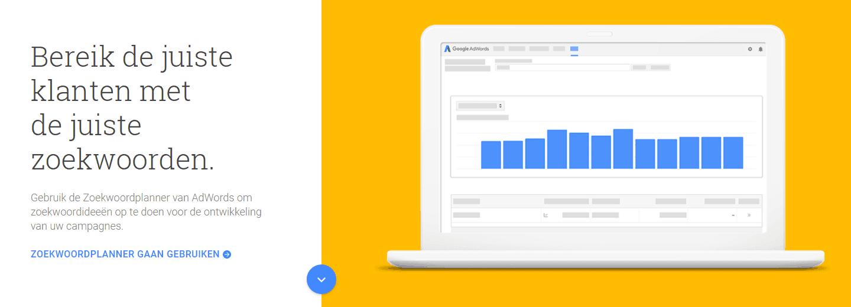 zoekwoordenplanner van Google voor seo analyse
