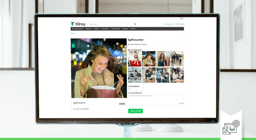 Kies uit meerdere beelden en personaliseer cadeaubonnen met een leuke boodschap screenshot
