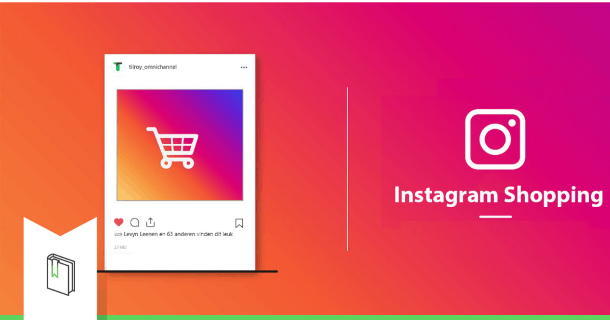 instagram shopping cart and logo and instagram colors