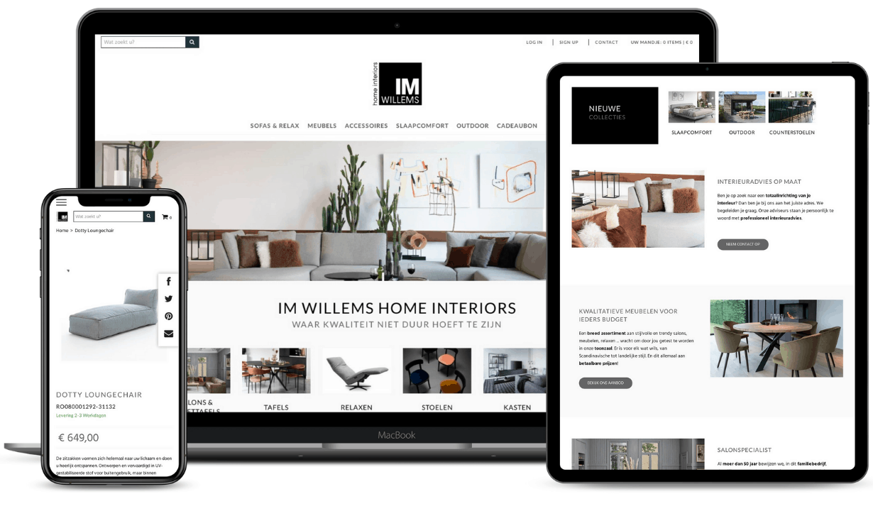 webshop screenshots im willems interieur