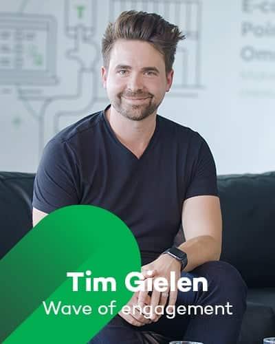 Tim Gielen van Wave of engagement bij Retail Koplopers