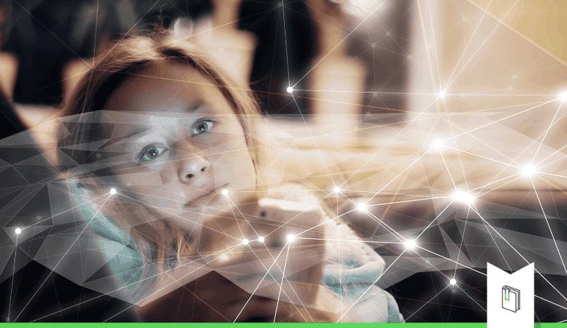 klant die digitaal geconnecteerd is om digitalisering en connectie te duiden