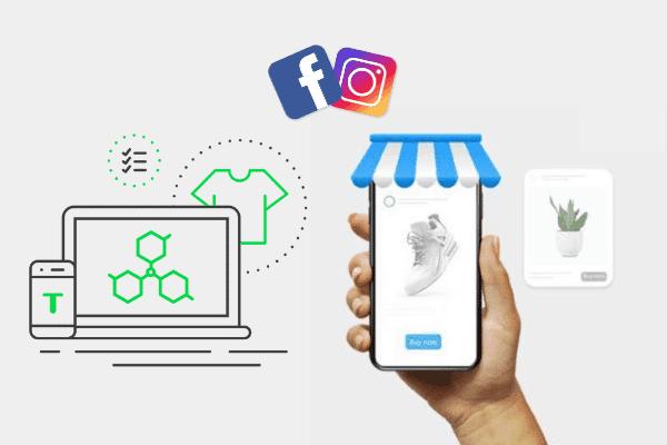 illustratie automatische koppeling met Facebook en Instagram