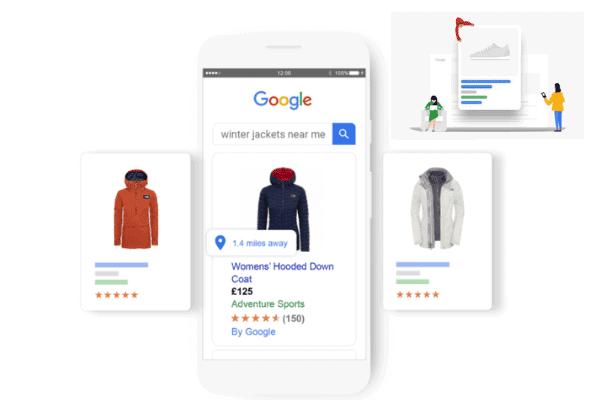 illustratie Laat je klanten shoppen in de zoekmachines van Google