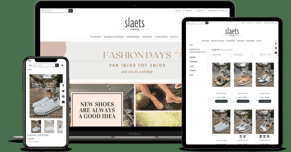 slaets schoenenwinkel webshop